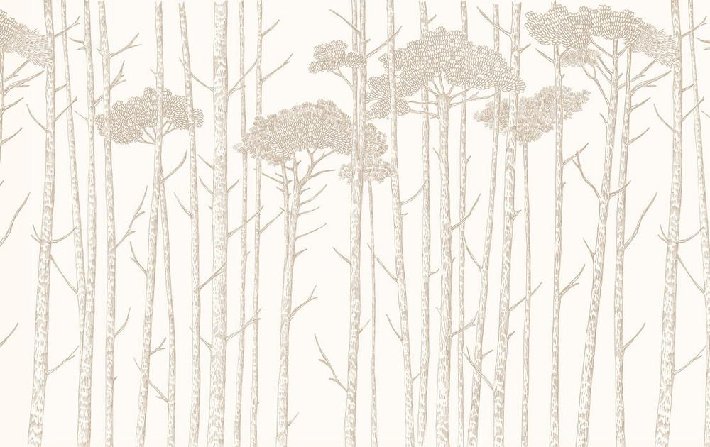 MURAL - TREE TOPS BEIGE(PER SQM)