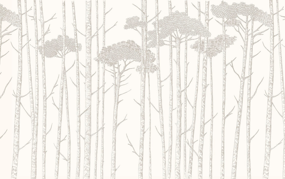 MURAL - TREE TOPS GREY (PER SQM)
