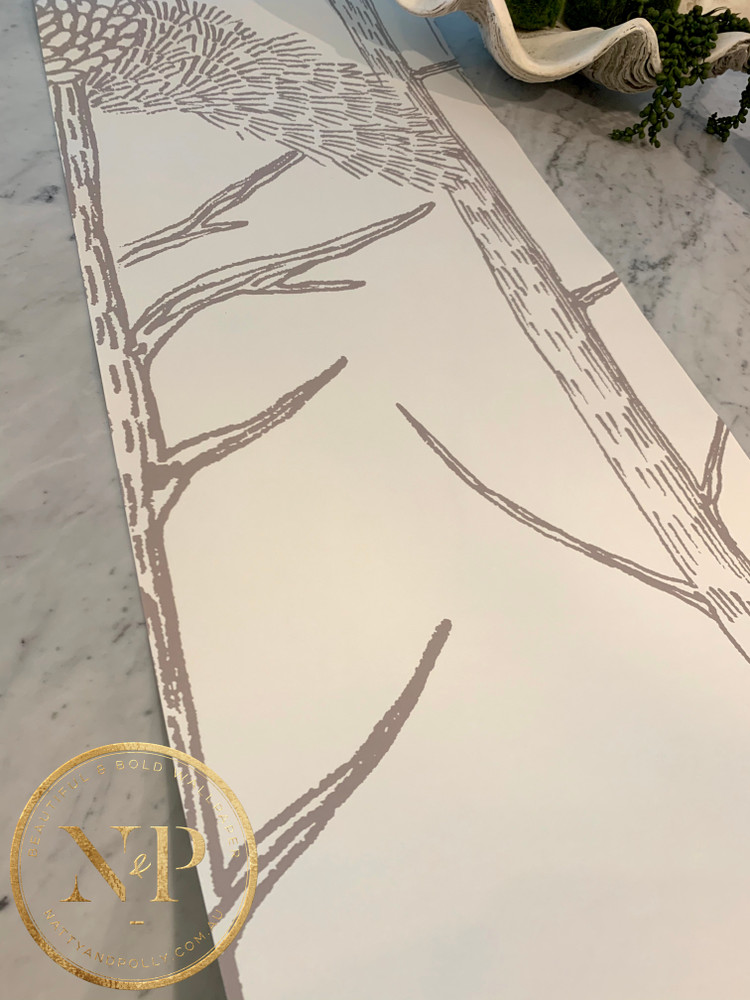 Mural - Tree Tops Grey (Per Sqm)