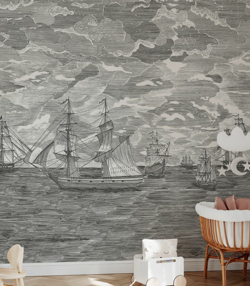 Mural - Sail Away Black Star (Per Sqm)