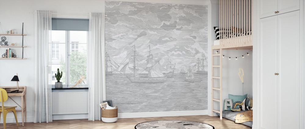 Mural - Sail Away Grey (Per Sqm)