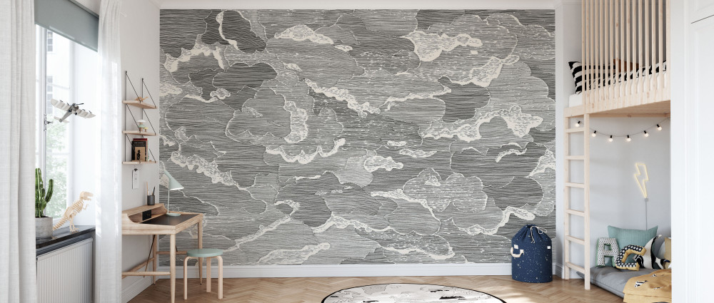 MURAL - UP AND AWAY BLACK (PER SQM)
