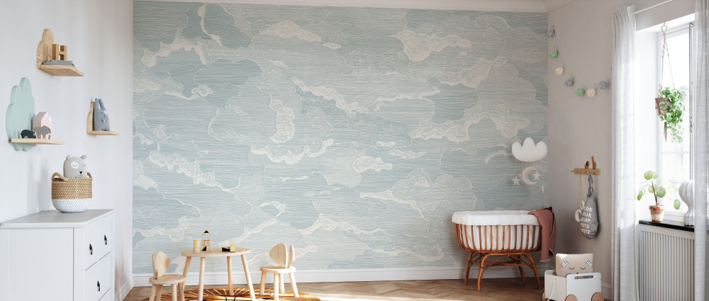 Mural - Up And Away Light Blue (Per Sqm)