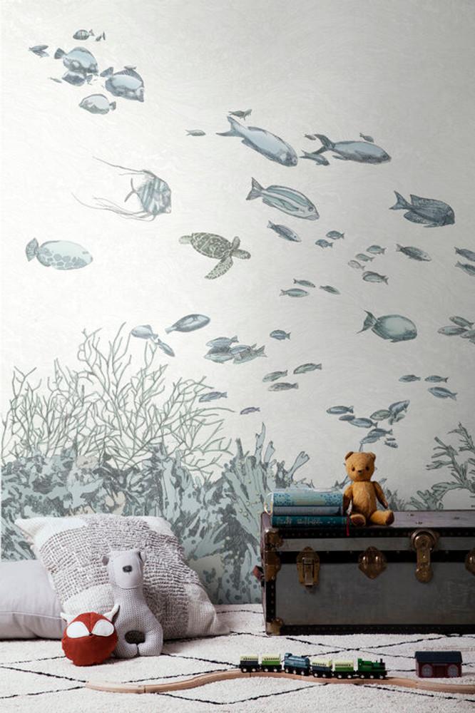 Mural - Under The Sea Blue (Per Sqm)