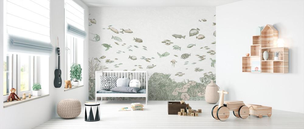 Mural - Under The Sea Green (Per Sqm)