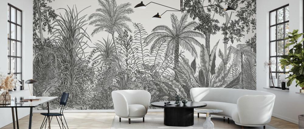 Mural - Tropica Black (Per Sqm)