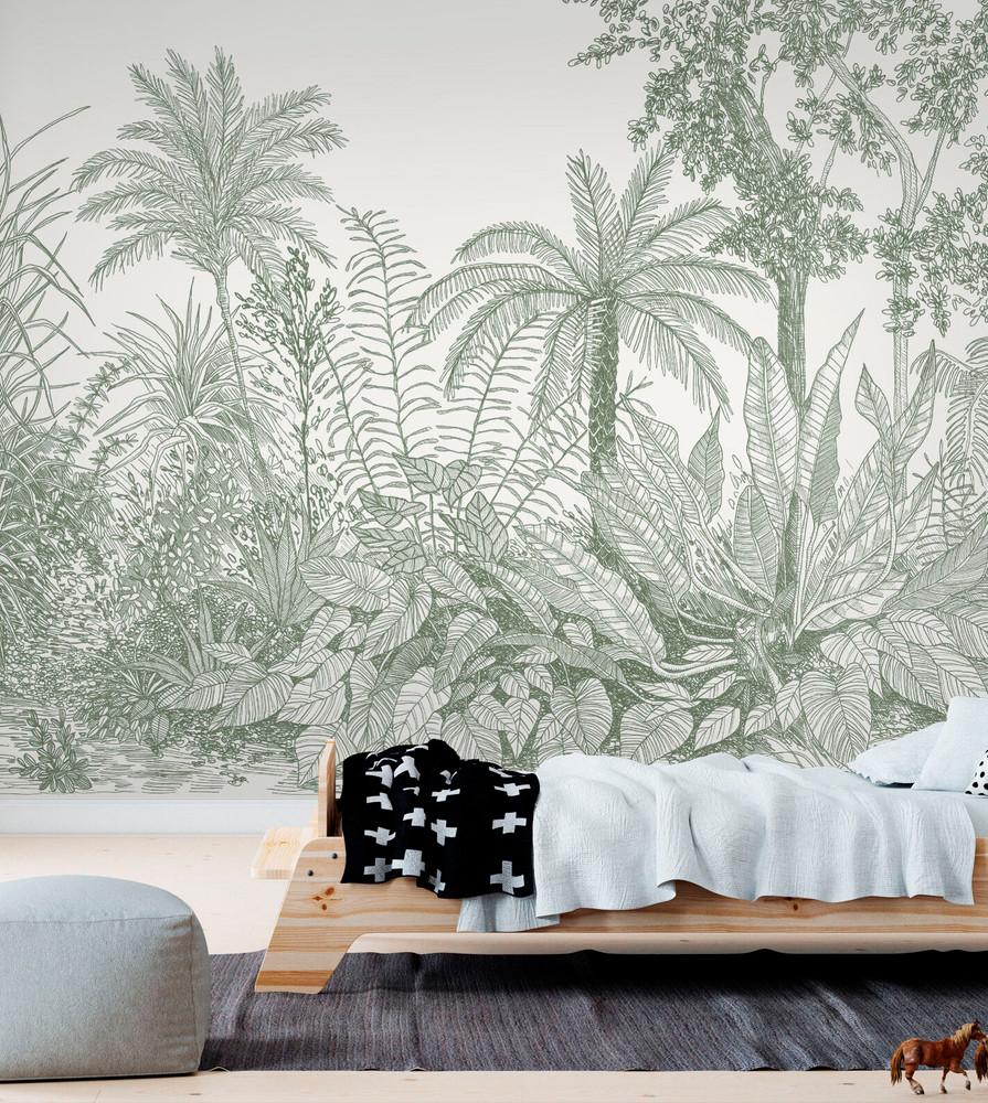Mural - Tropica Pale Sage (Per Sqm)