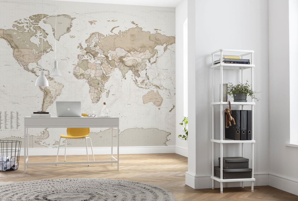 MURAL - EARTH MAP (3.5m x 2.5m)