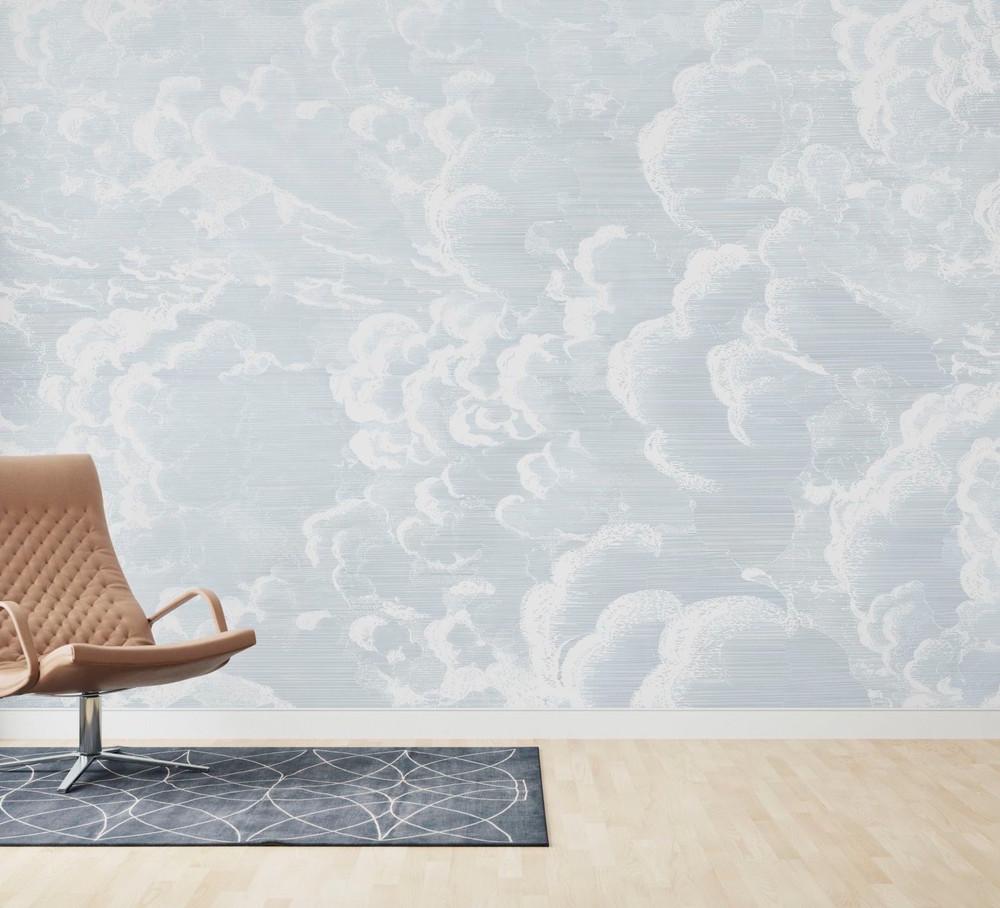 Mural - Cradled In Clouds Blue (Per Sqm)