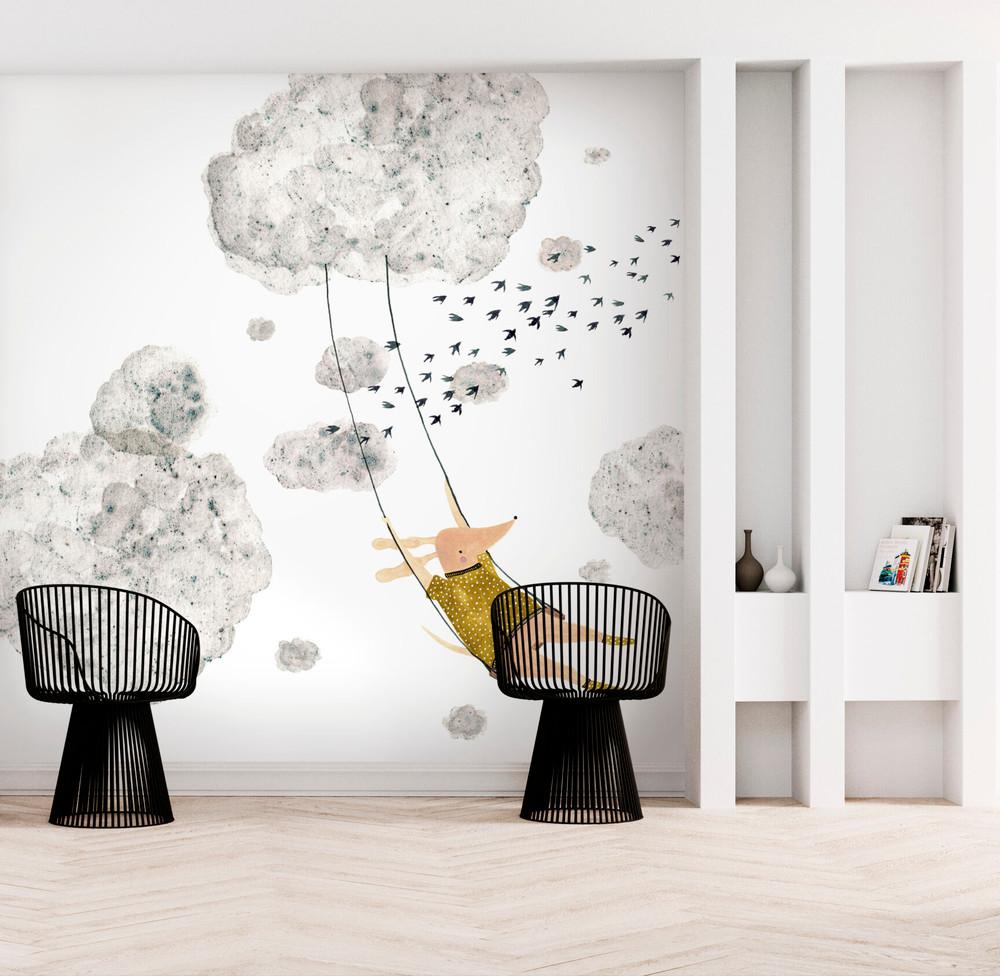 Mural - Wolkenschaukel (Per Sqm)