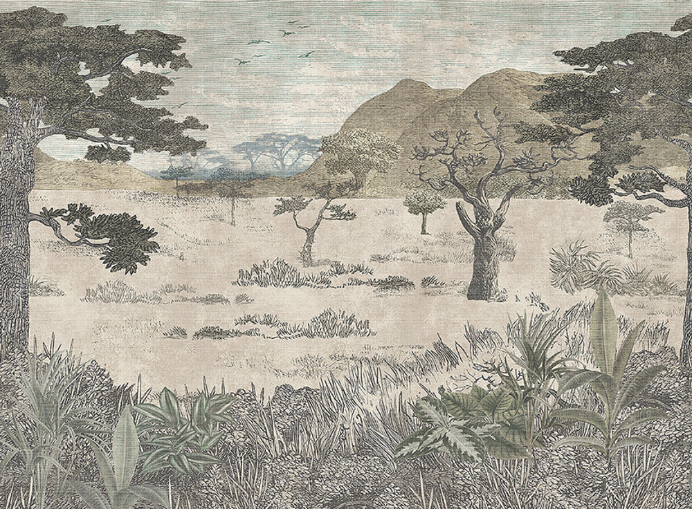 MURAL - SERENGETI SAVANNAH (3.6m x 2.65m)