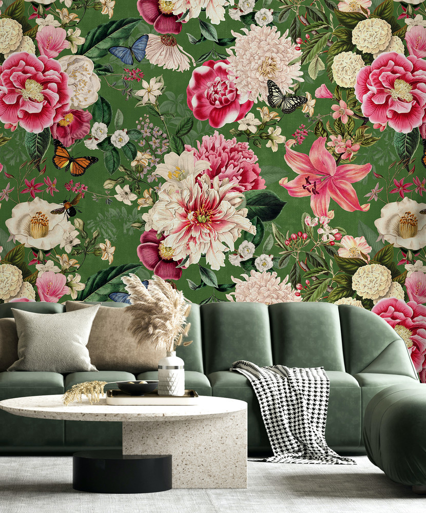 Mural - Fairy Garden Green (Per Sqm)