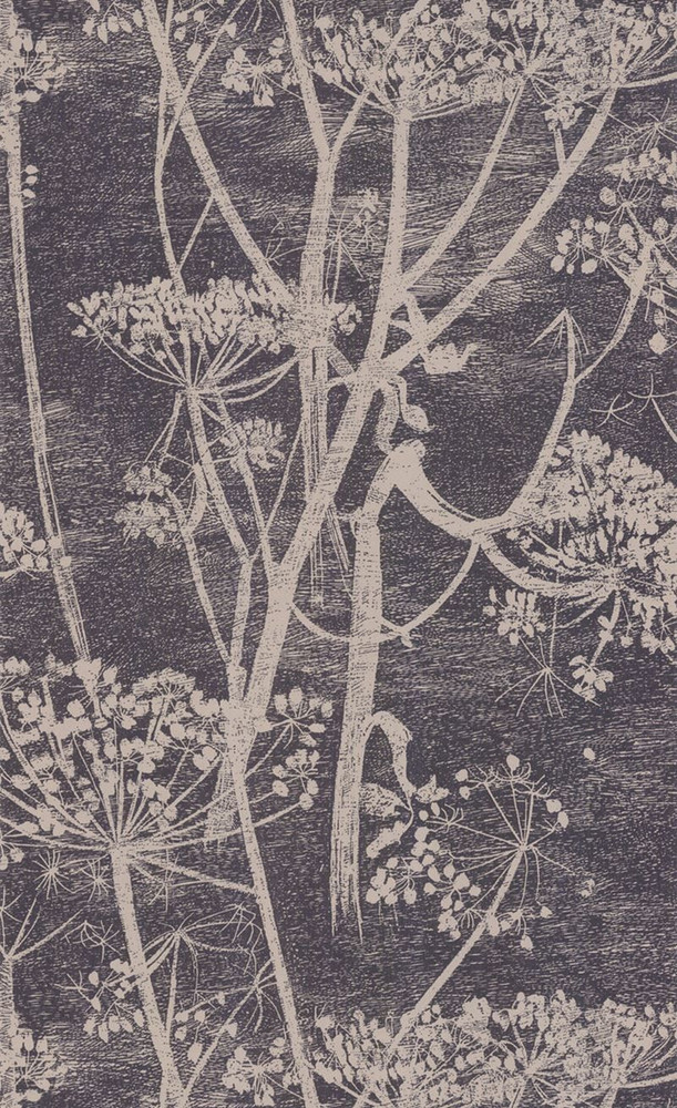 Cow Parsley - Black / Taupe (Last Roll)