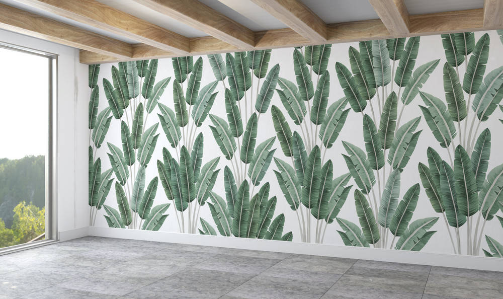 Mural - Palms Green (Per Sqm)
