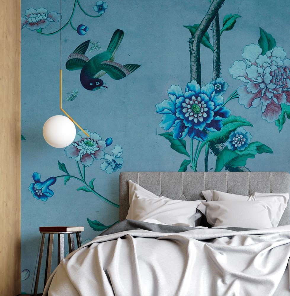 Mural - Chinoiserie Blue (Per Sqm)