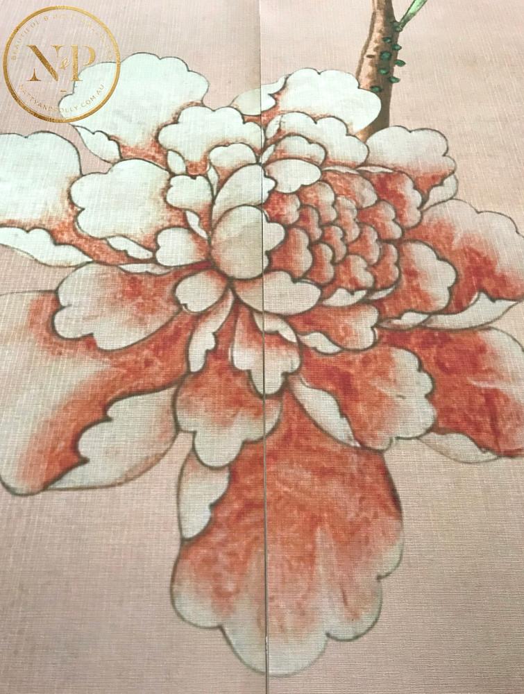 Mural - Chinoiserie Peach (Per Sqm)