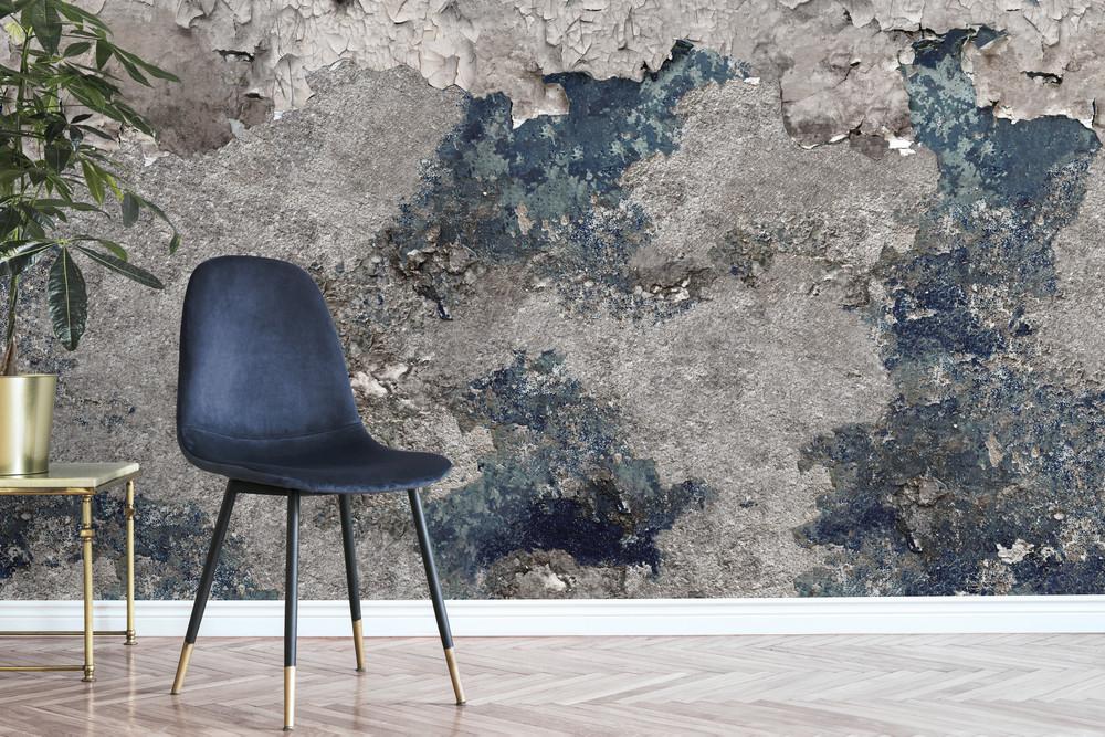 Mural - Concrete Grunge Blue (Per Sqm)