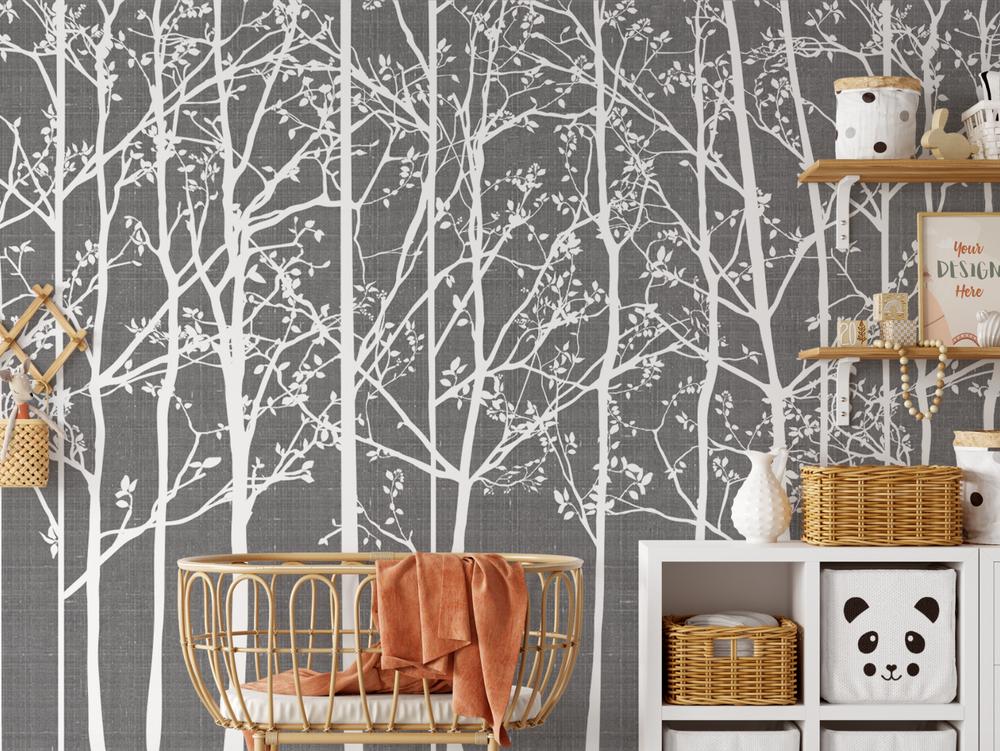 Mural - Silhouette Dusty Charcoal (Per Sqm)