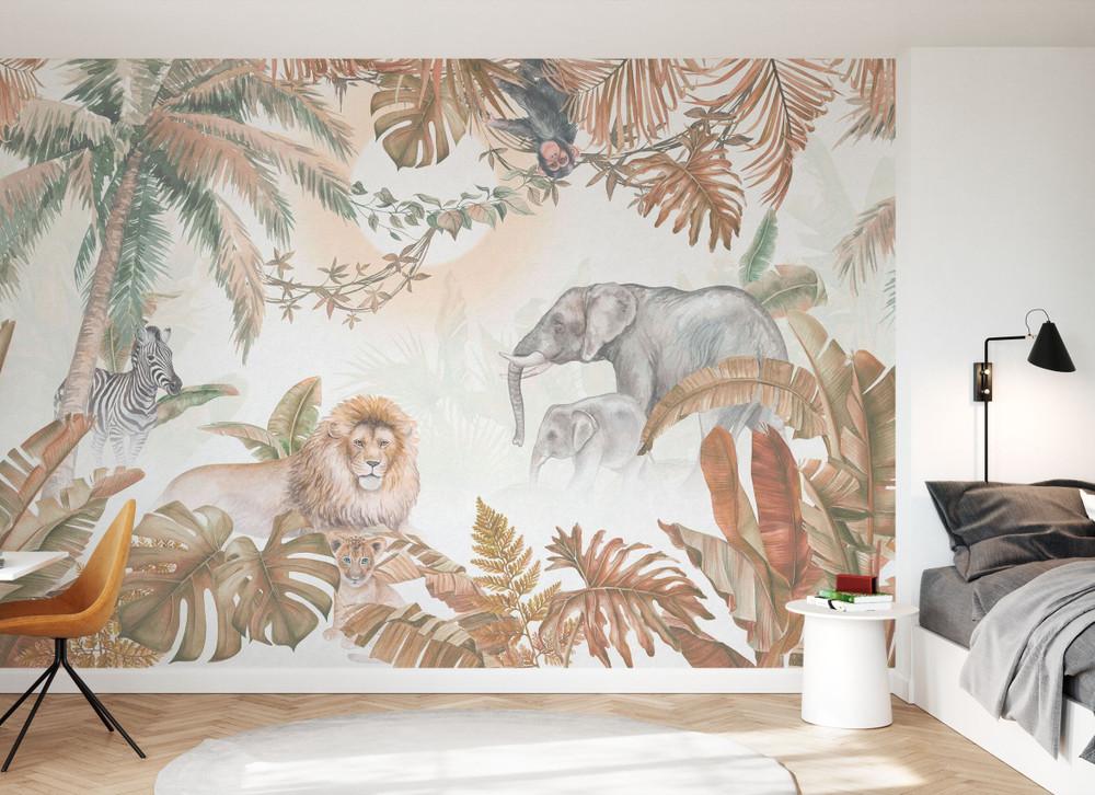 Mural - Jungle Animals Hazel (Per Sqm)