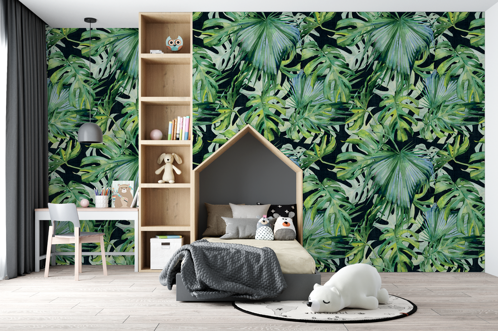 Mural - Palms On Black (Per Sqm)