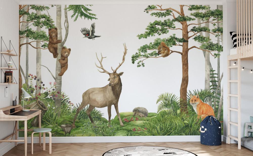 Mural - Nordic Forest Friends (Per Sqm)