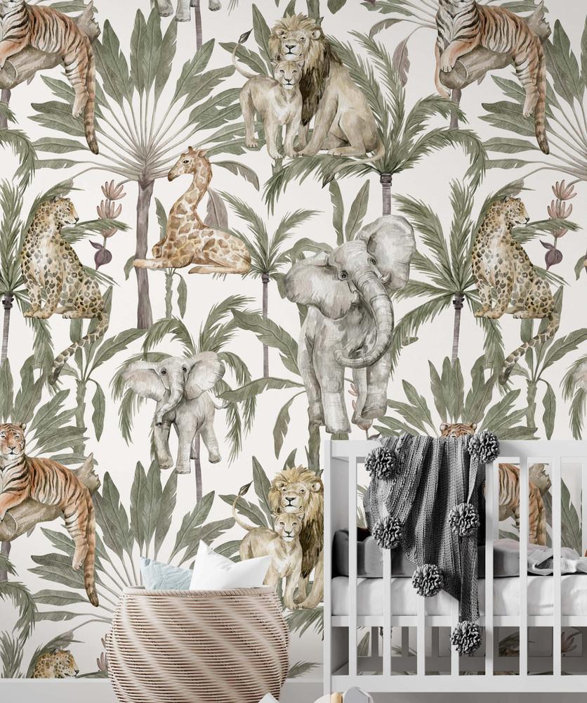 Mural - Amongst The Palms  (Per Sqm)
