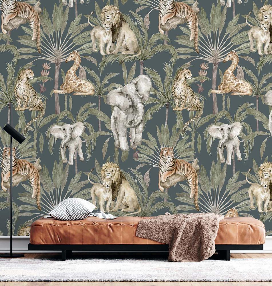 Mural - Amongst The Palms II  (Per Sqm)