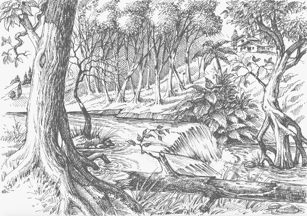 Mural - Meadow Coal (Per Sqm)