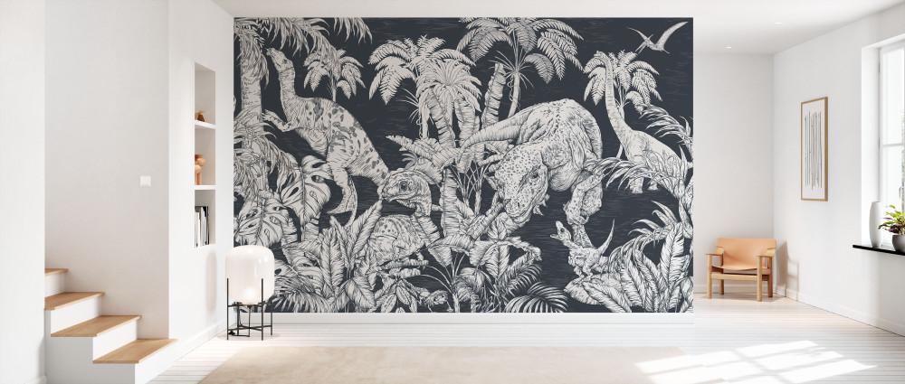 Mural - Dinosaur World Navy (Per Sqm)