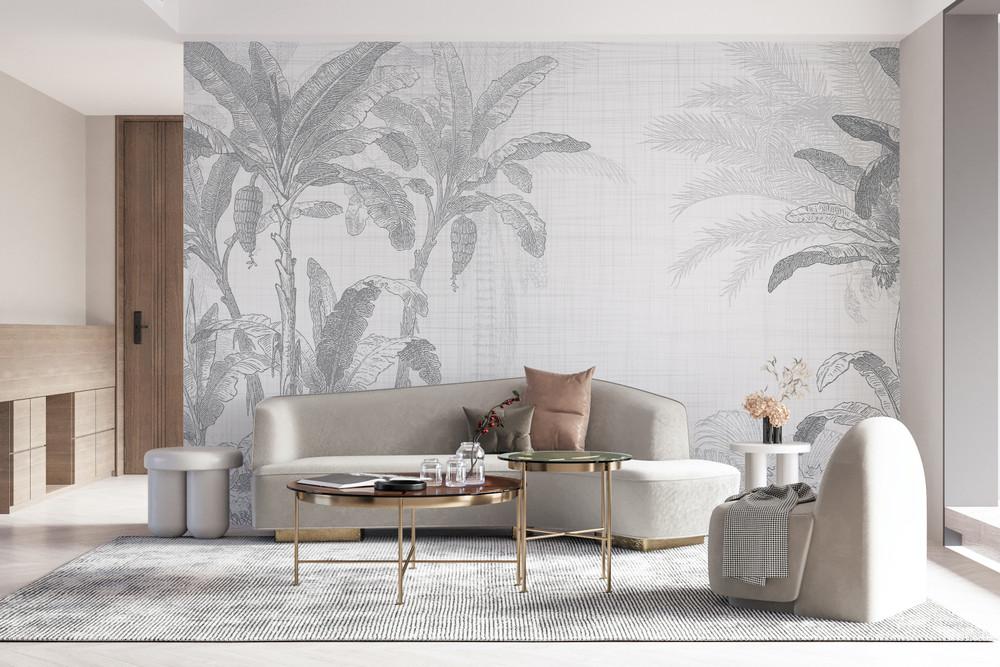Mural - Botany II Grey (Per Sqm)