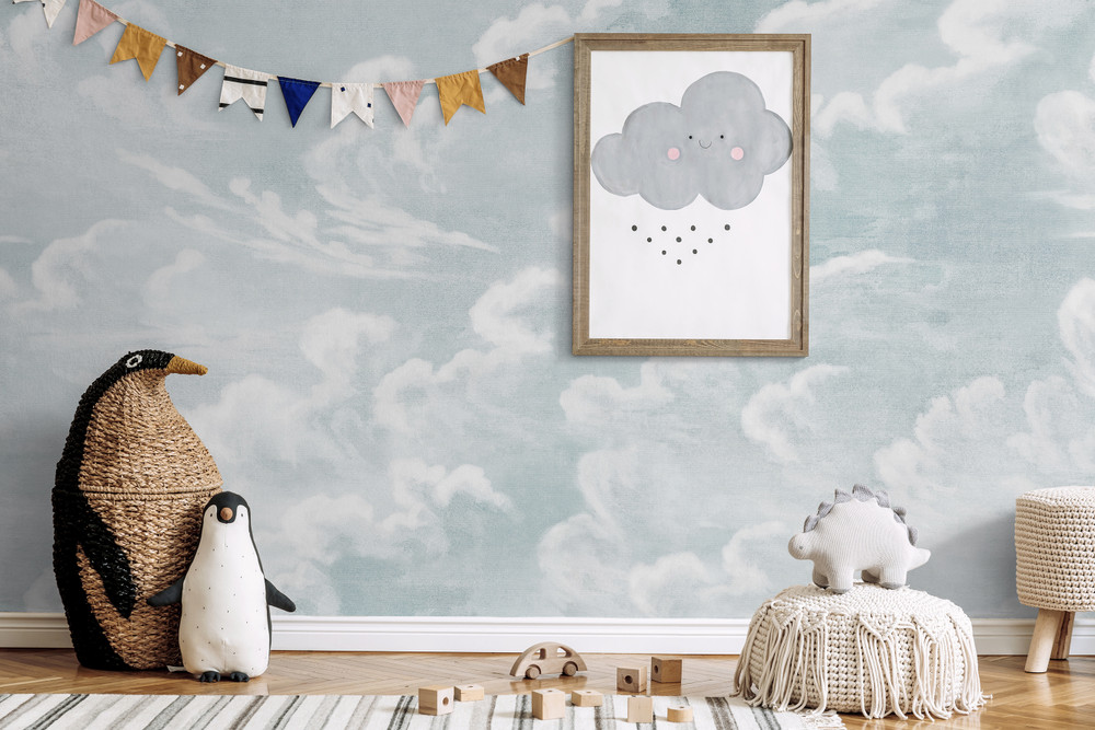 Mural - Clouds Baby Blue (Per Sqm)
