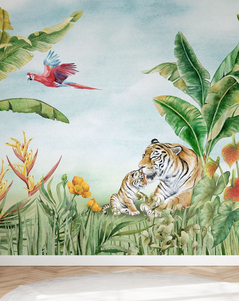 Mural - Relaxing In The Sun (Per Sqm)