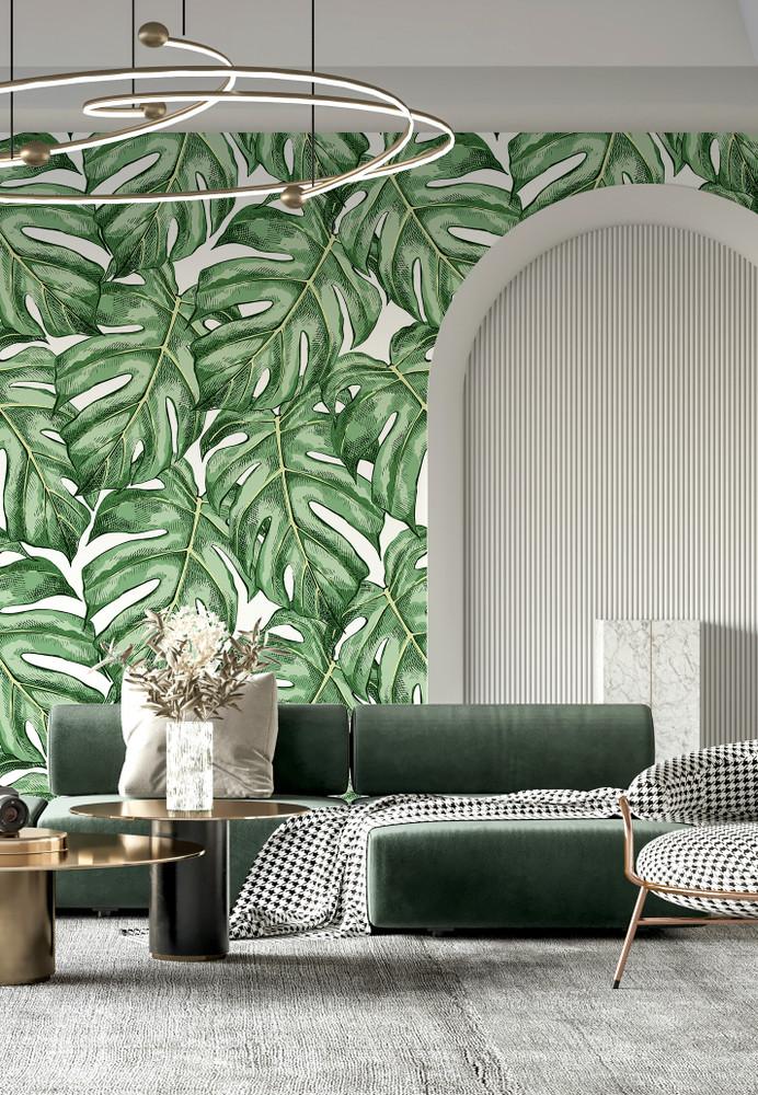 Mural - Monstera Palm Leaf II (Per Sqm)