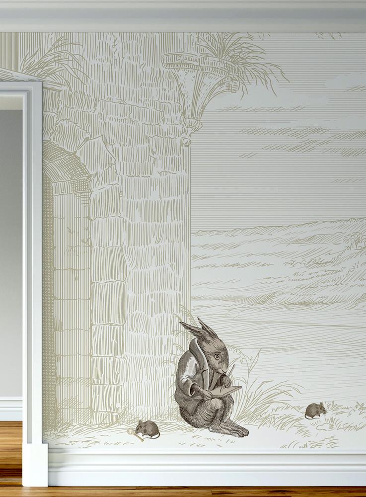 Mural - The Secret Door Beige (Per Sqm)