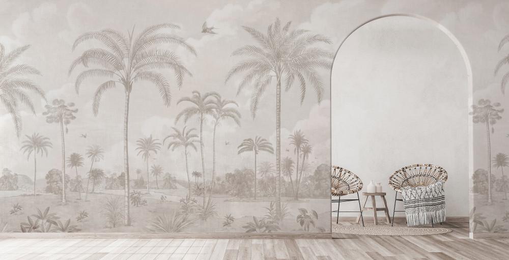 Mural - Vintage Jungle Cream (Per Sqm)