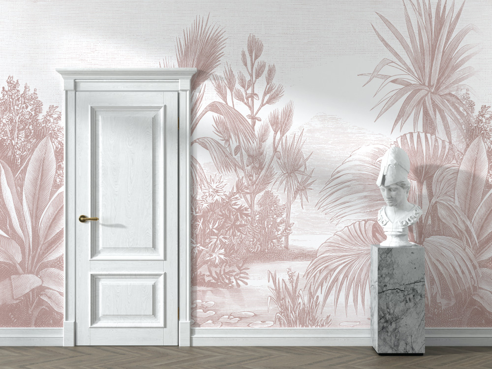 Mural - Toba Jungle Pink (Per Sqm)