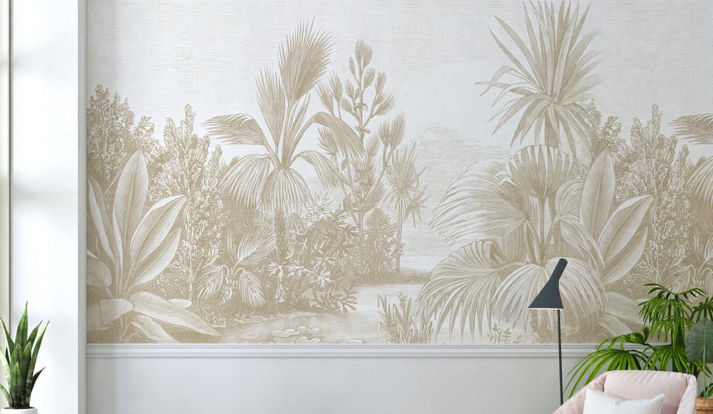 Mural - Toba Jungle Sepia (Per Sqm)