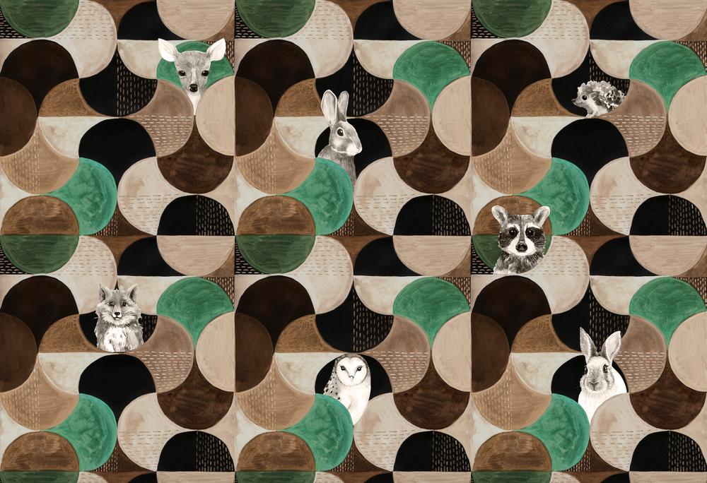 Mural - Hyde Woodlands Green (Per Sqm)