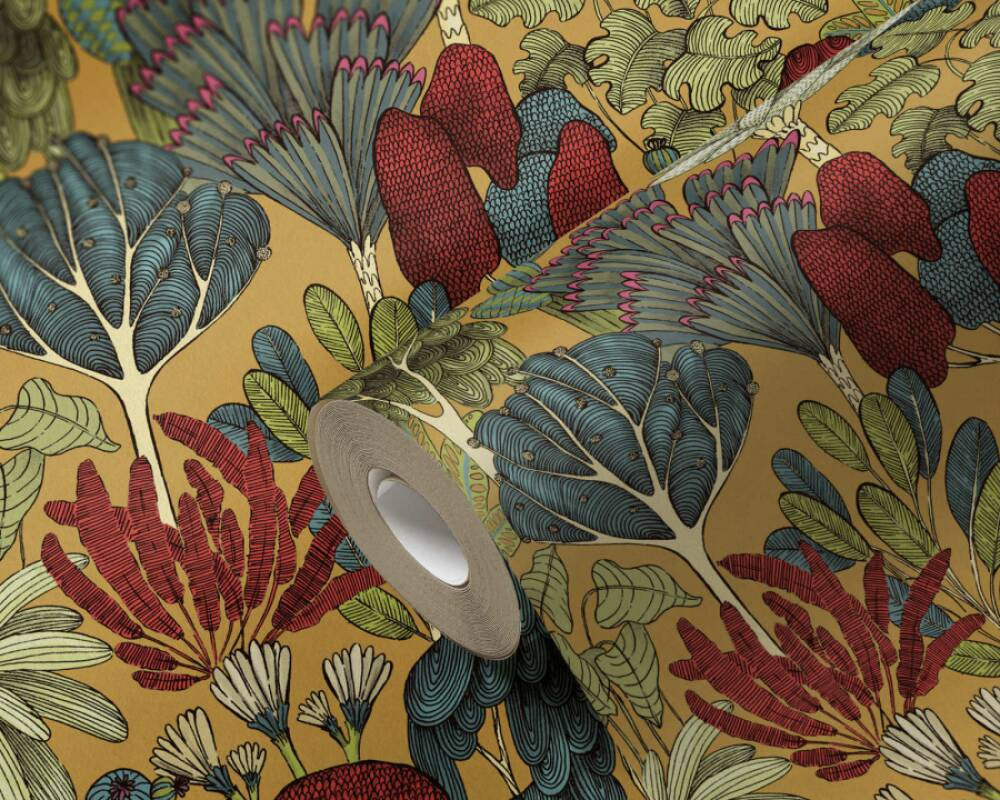 Botany Tree - Ochre / Blue