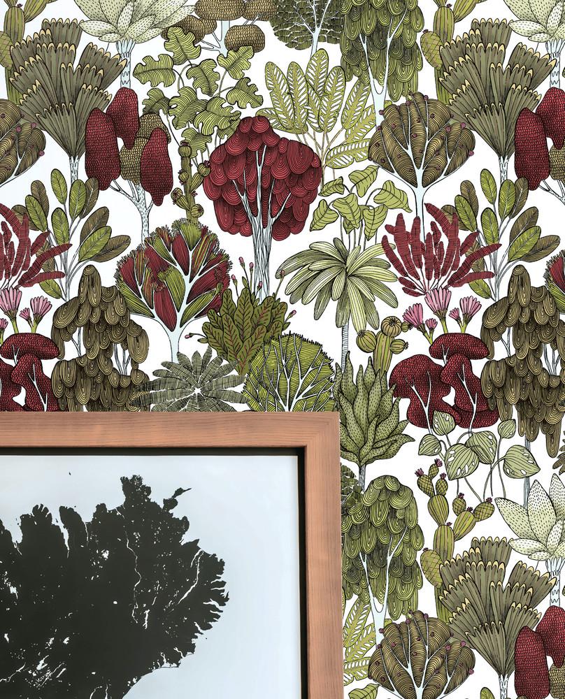 Botany Tree - Sage / Maroon