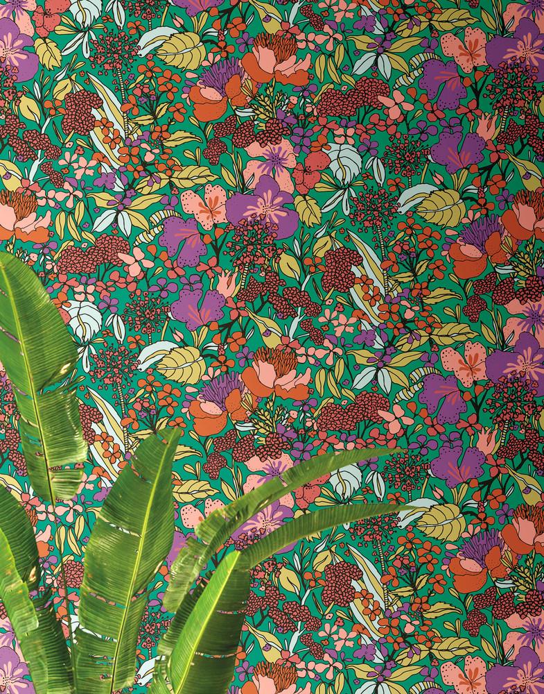 Flora Impression - Green / Multi