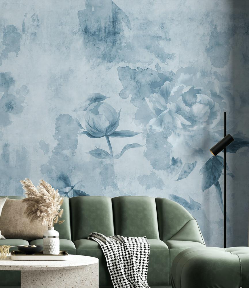 Mural - Khloe Ocean Blue (Per Sqm)