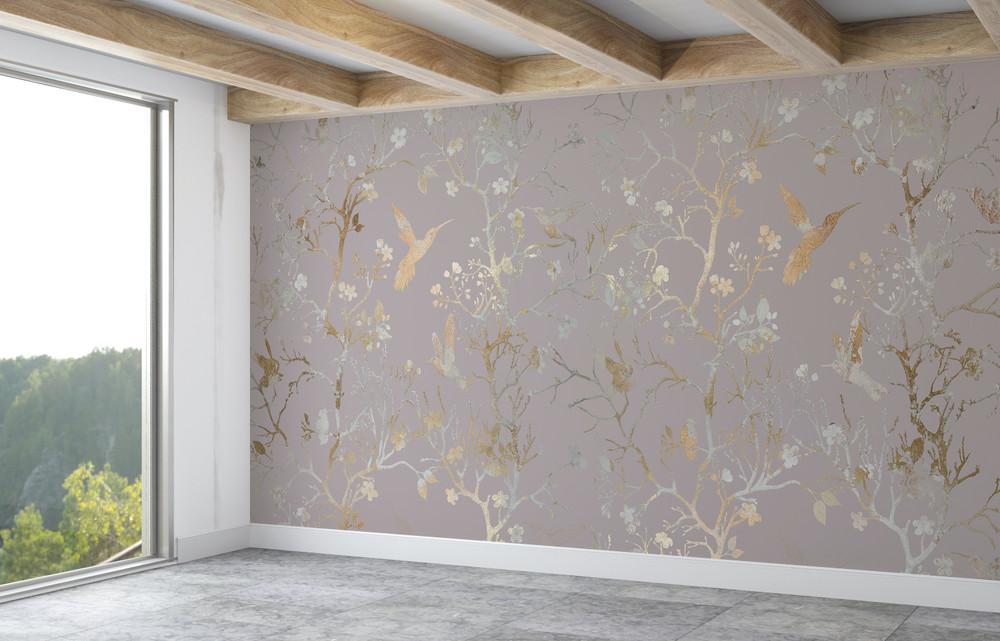 Mural - Chinoiserie Lilac (Per Sqm)
