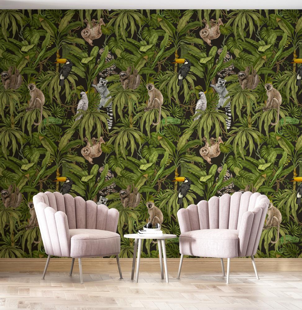 Mural - Whimsy Jungle III (Per Sqm)