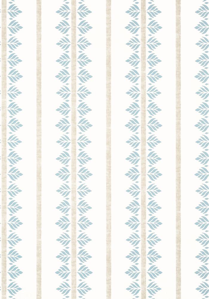 Fern Stripe - Spa Blue