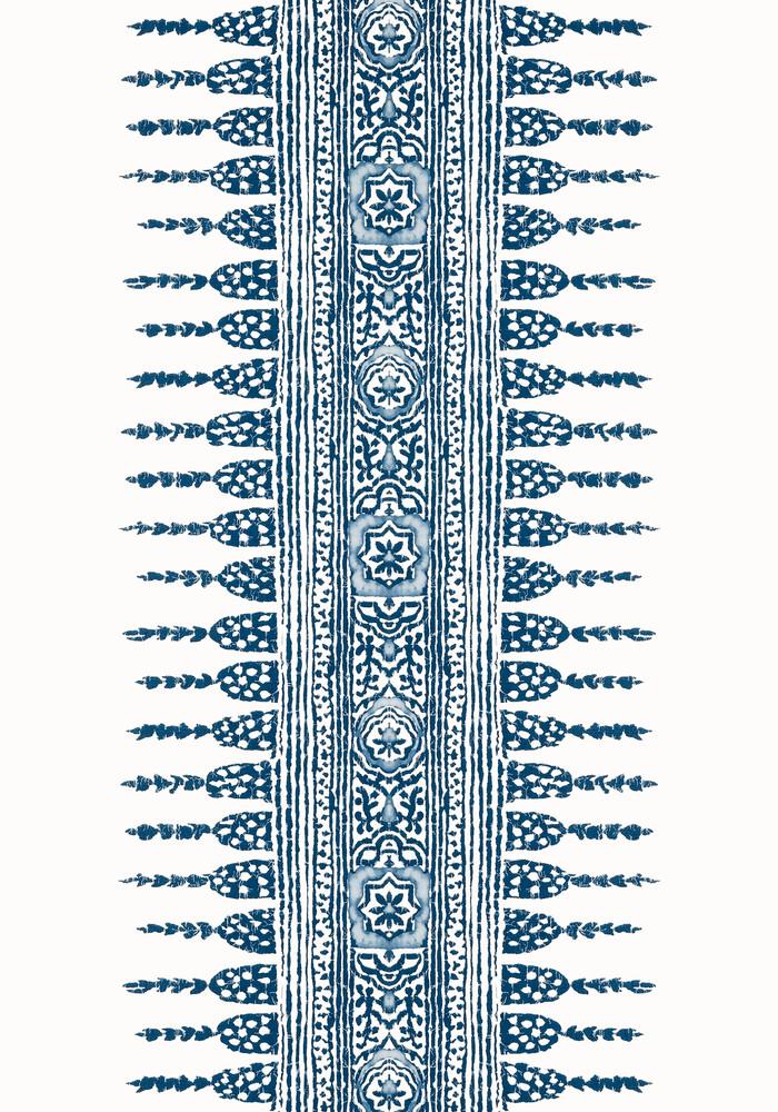 Javanese Stripe - Navy / White