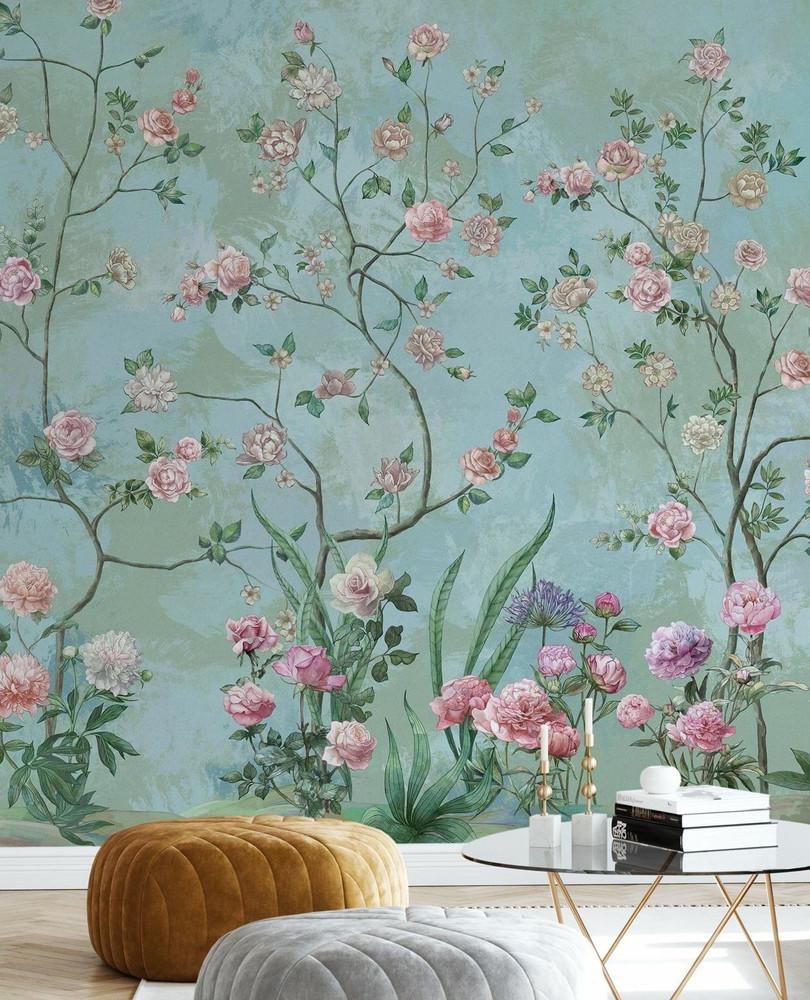 Mural - Flower Garden Green (Per Sqm)