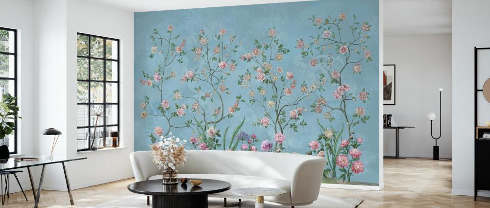 Mural - Flower Garden Blue (Per Sqm)