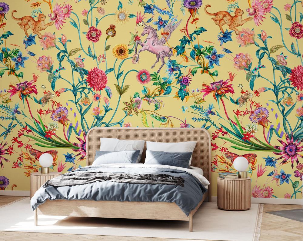 Mural - Daydreaming Yellow (Per Sqm)