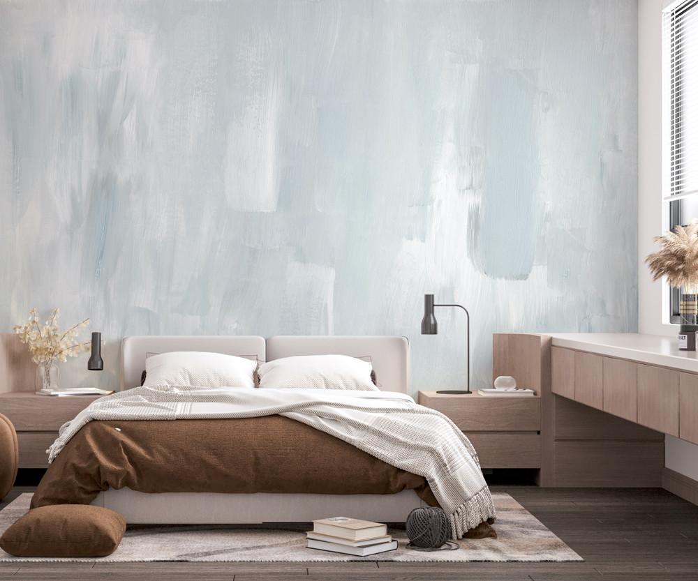 Mural - Venetian Smoke Blue (Per Sqm)